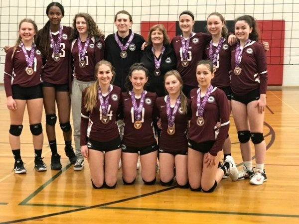 MVC 15U Columbia Bronze Medallists at Championship